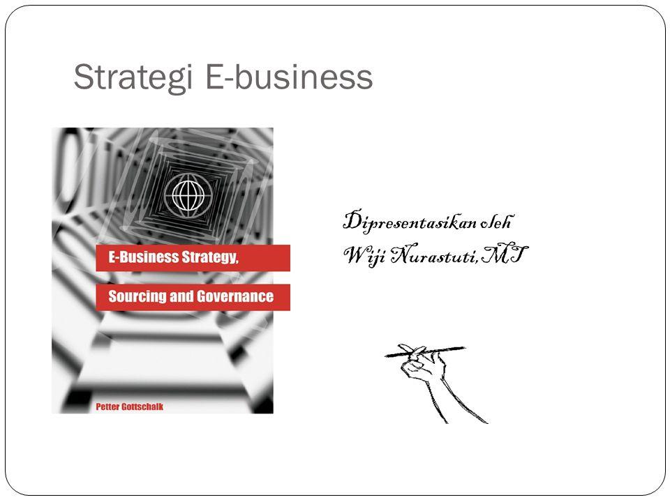 Strategi E-business Dipresentasikan oleh Wiji Nurastuti,MT