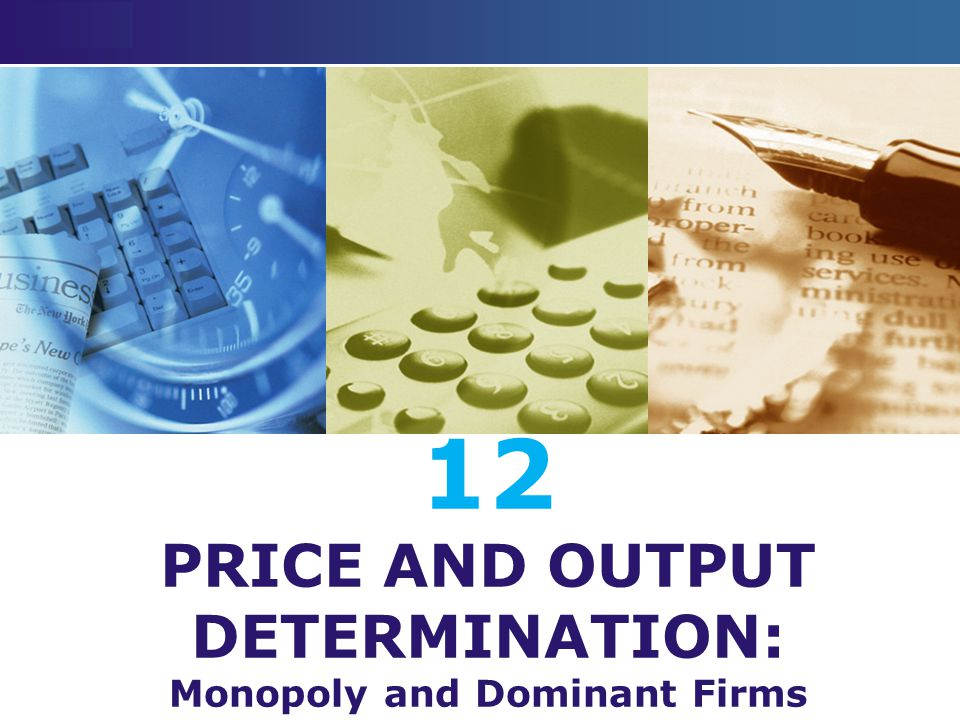 LOGO 12 PRICE AND OUTPUT DETERMINATION: Monopoly and Dominant Firms