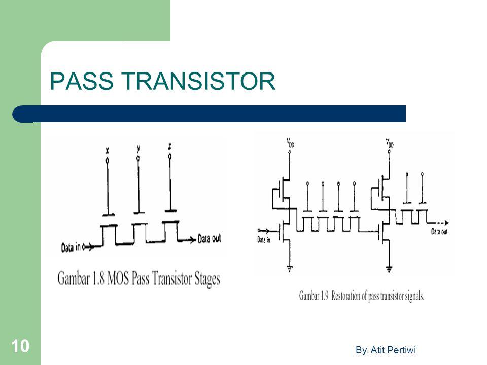 By. Atit Pertiwi 10 PASS TRANSISTOR