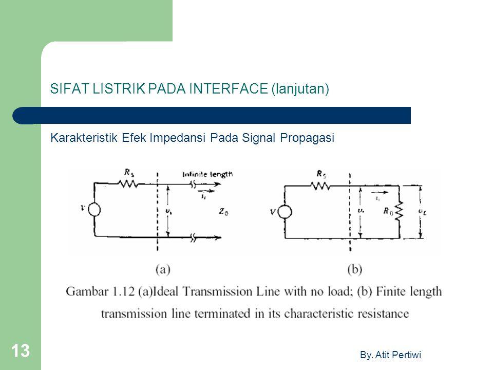 By. Atit Pertiwi 13 SIFAT LISTRIK PADA INTERFACE (lanjutan) Karakteristik Efek Impedansi Pada Signal Propagasi