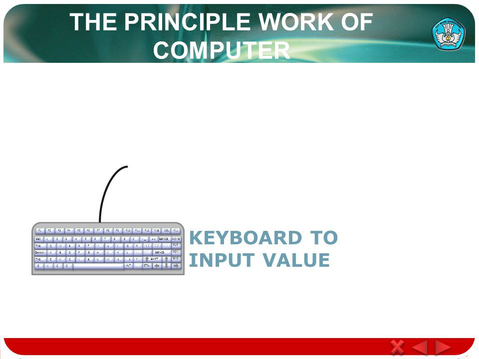 THE PRINCIPLE WORK OF COMPUTER F1F2F3F4F5F6F7F8F9F10F11F12 ESC1234567890 - _+=BSPACE TABQWERTYUIOP { [] }| \ CaplockASDFGHJKL: ; 'BSPACE TABZXCVBNM<,.