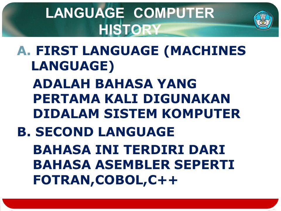 LANGUAGE COMPUTER HISTORY A.