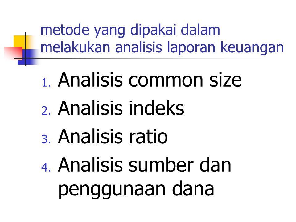 metode yang dipakai dalam melakukan analisis laporan keuangan 1.