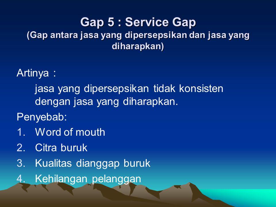 Strategi Mengurangi Gap Kualitas Jasa Strategi pokok untuk GAP 1 : Mempelajari apa yang diharapkan pelanggan.