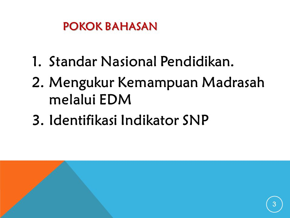 POKOK BAHASAN 3 1.Standar Nasional Pendidikan.