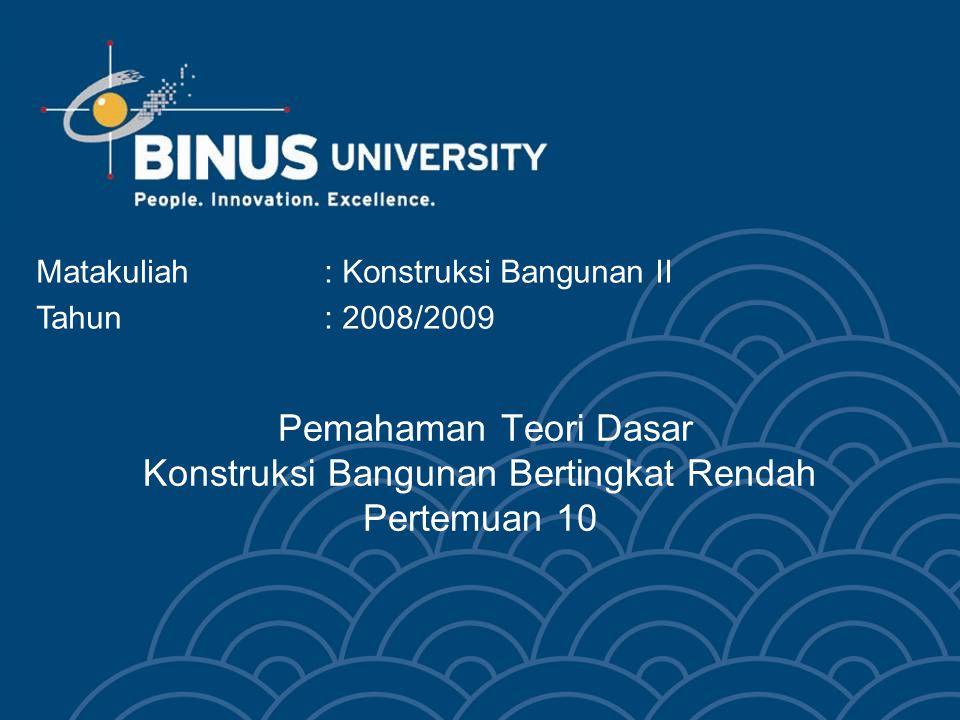 Bina Nusantara University 13 Asumsi pemakaian pada rumah tangga dengan kategori R-1 2200 VA Blok I 0 –20 kWh = 390,- x 20 = 7.800,- Blok II 21-60 kWh = 445,- x 60 = 26.700,- Blok III 61 kWh ≤ = 495,- x 33 = 16.335,- Biaya total untuk 1 bulan = Rp 50.835,- Blok I 0 –20 kWh = 390,- x 20 = 7.800,- Blok II 21-60 kWh = 445,- x 60 = 26.700,- Blok III 61 kWh ≤ = 495,- x 262 = 129.690,- Biaya total untuk 1 bulan = Rp 164.190,- Penghematan listrik dengan bahan beton ringan BETON RINGAN = Rp 164.190,– Rp 50.835,- = Rp 113.335,-