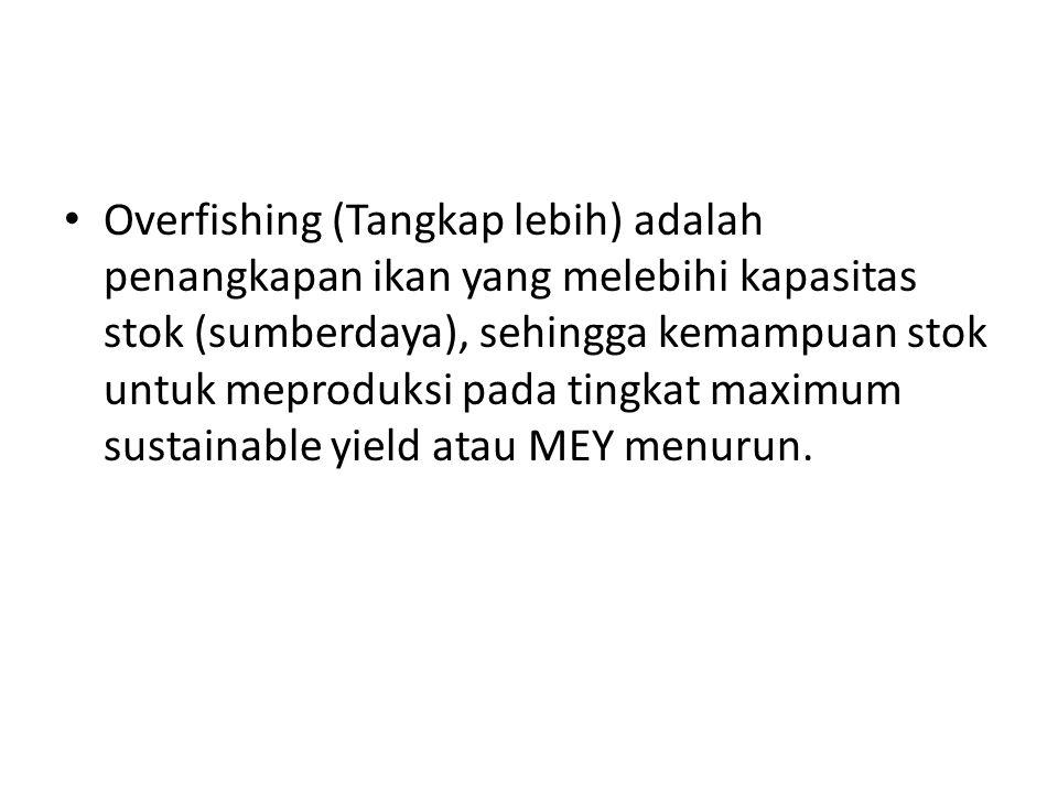 Overfishing (Tangkap lebih) adalah penangkapan ikan yang melebihi kapasitas stok (sumberdaya), sehingga kemampuan stok untuk meproduksi pada tingkat m