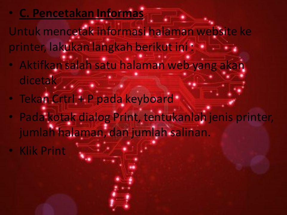 A. Menyimpan Informasi HTML.