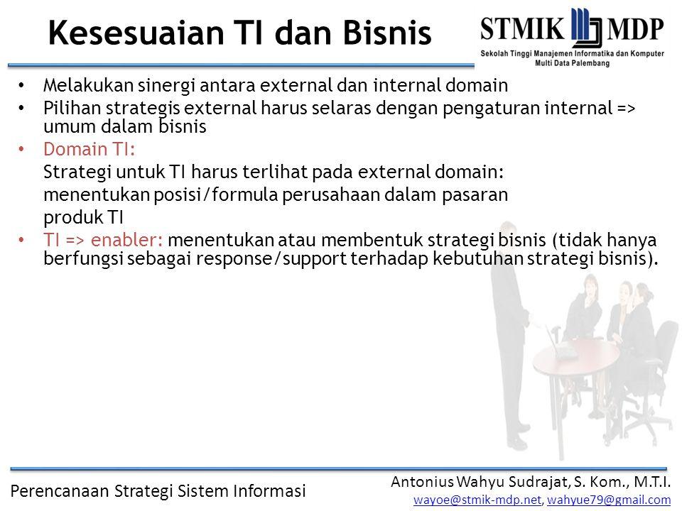 Perencanaan Strategi Sistem Informasi Antonius Wahyu Sudrajat, S.