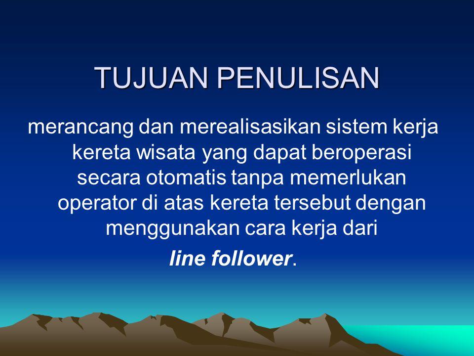 SARAN Kereta wisata ini adalah salah satu contoh pengimplementasian prinsip line follower dalam kehidupan sehari-hari.