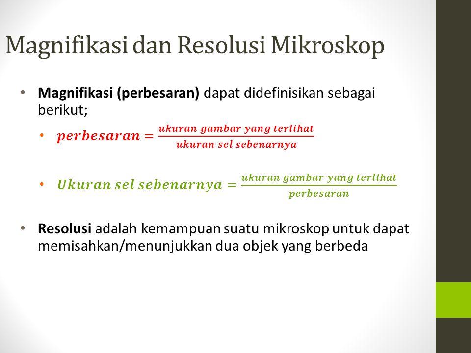 Magnifikasi dan Resolusi Mikroskop