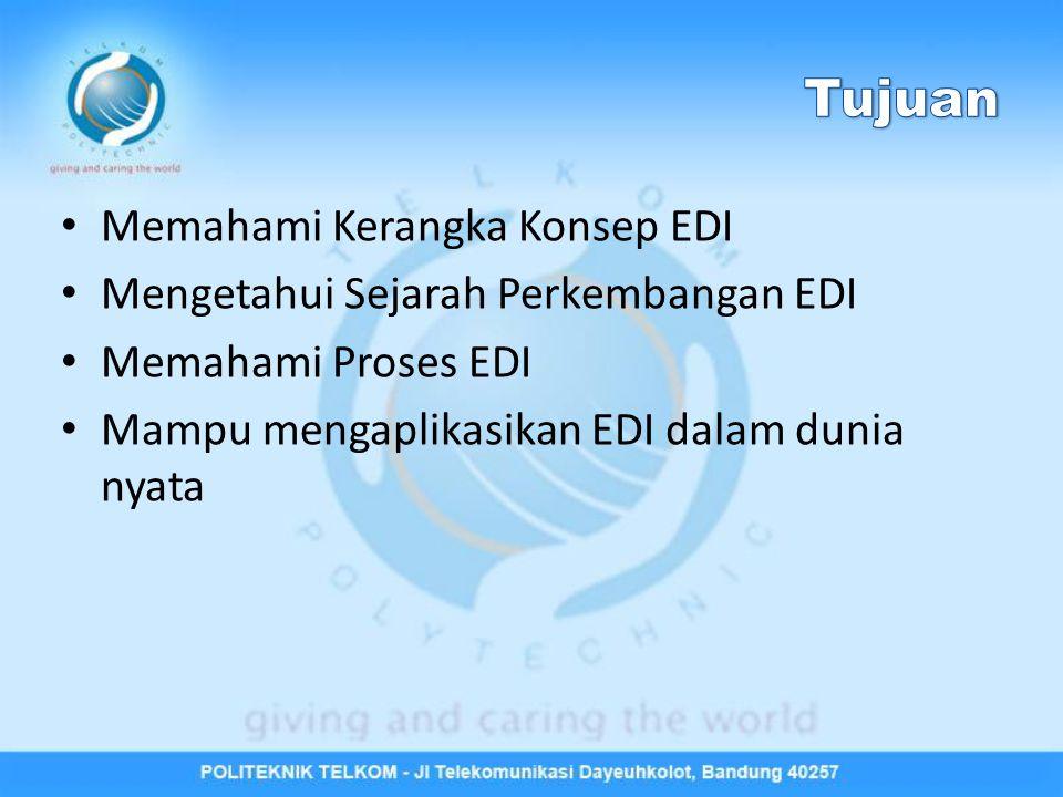 Kerangka Konsep EDI Sejarah EDI Generasi EDI Proses EDI Standar EDI Kelebihan dan Kekurangan EDI Aplikasi EDI Siklus Perencanaan Sistem EDI