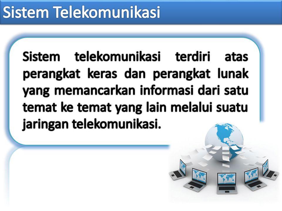 Perangkat Keras Media Komunikasi Aplikasi Komunikasi Protokol Komunikasi Penyedia Komunikasi Data Perangkat Lunak Komunikasi Jaringan Komunikasi