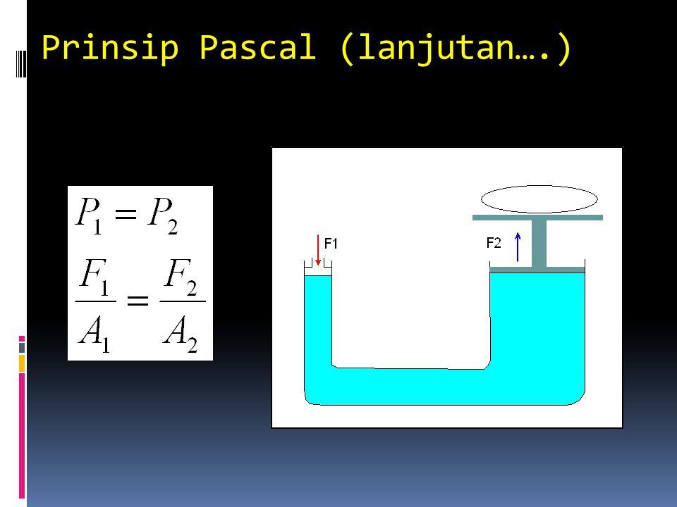 Prinsip Pascal (lanjutan….)