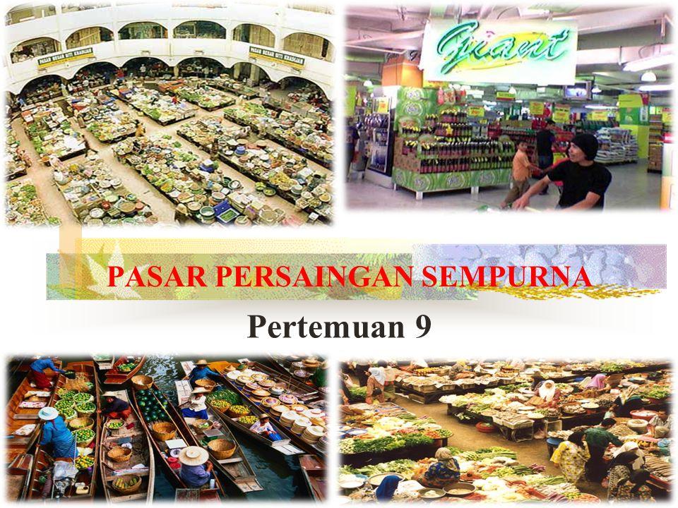 Pengantar Ekonomi 2011 2 PENGERTIAN PASAR Pasar adalah tempat atau sarana bertemunya penjual dan pembeli baik secara langsung maupun tidak langsung untuk melakukan transaksi jual/beli.