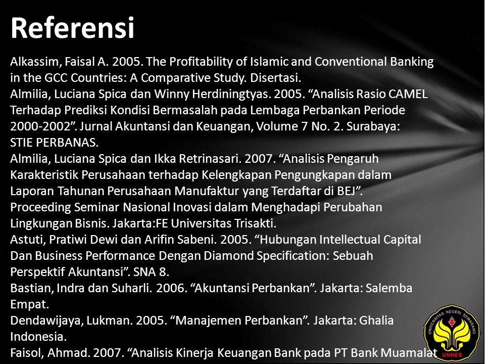 Referensi Alkassim, Faisal A. 2005.