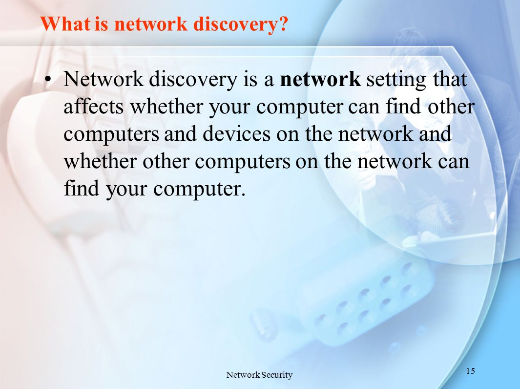What is network discovery? Network discovery is a network setting that affects whether your computer can find other computers and devices on the netwo