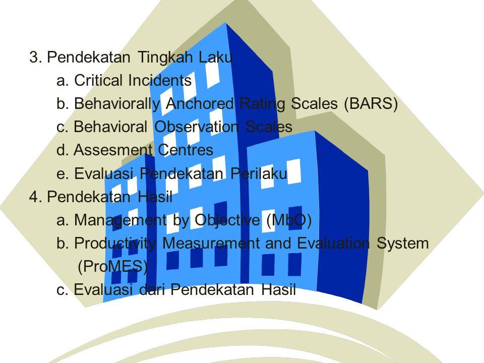 Pendekatan untuk Menganalisis Kinerja 1.Pendekatan Komparatif a.