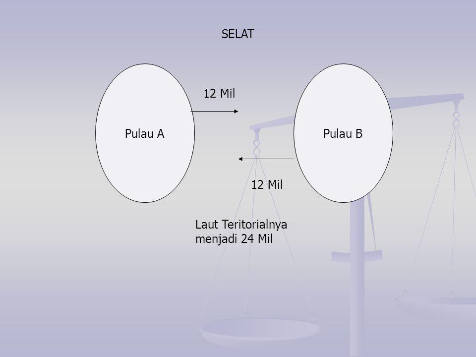Pulau APulau B 12 Mil Laut Teritorialnya menjadi 24 Mil SELAT