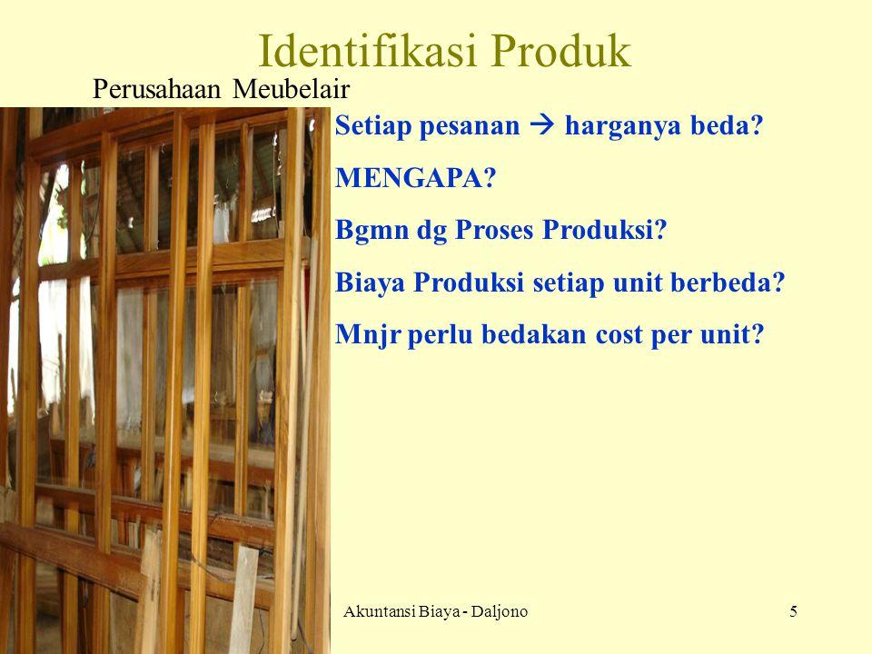 Akuntansi Biaya - Daljono16 Pemakaian Bahan Baku &Penolong 000 BDP 000 Persd Bahan 000 BOP ses 000