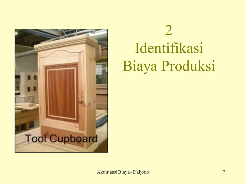 Akuntansi Biaya - Daljono8 Bahan Baku Tenaga Kerja Overhead PRODUK JADI ARUS FISIK PERUSAHAAN MANUFAKTUR