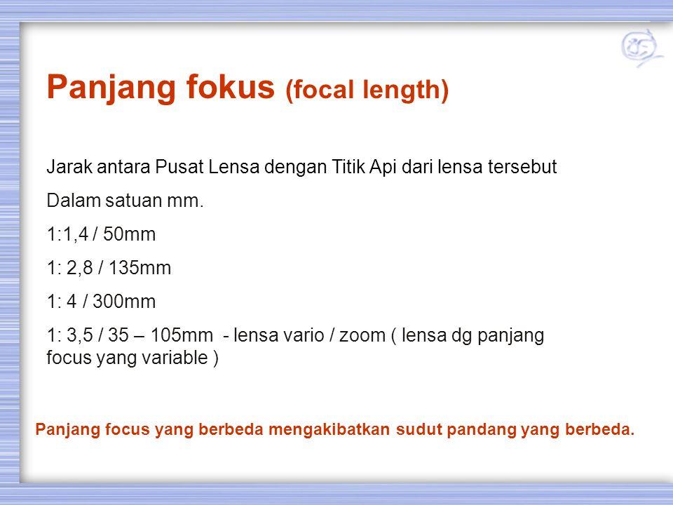 Lensa Zoom / vario Lensa dengan panjang focus variabel (dapat diubah-ubah)