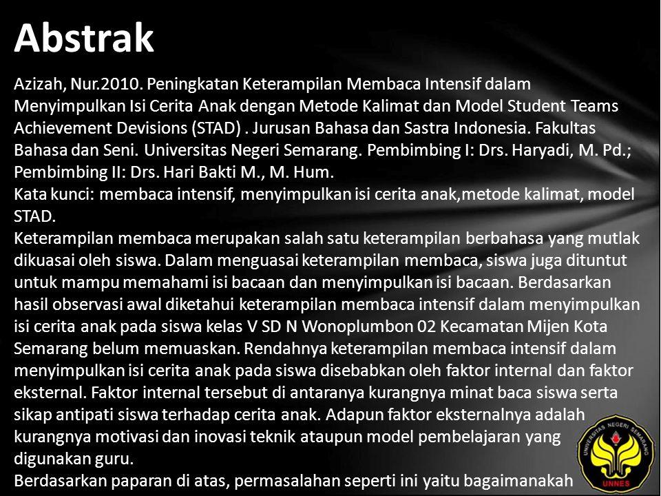 Abstrak Azizah, Nur.2010.