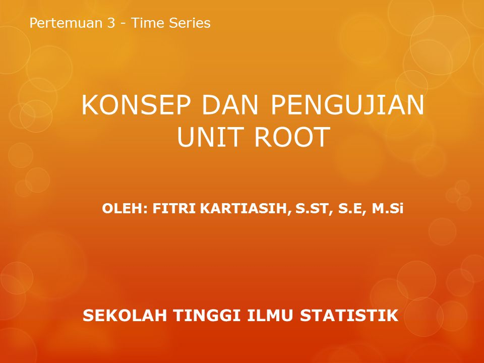 Proses stokastik dan kestasioneran data time series