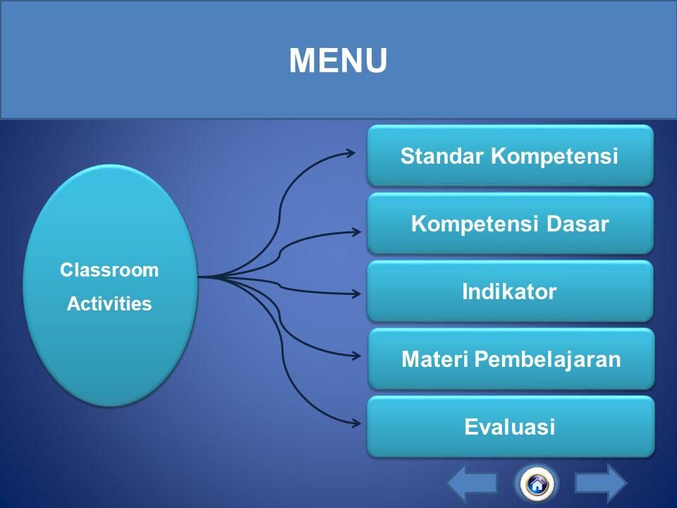 LESSON 5 CLASSROOM ACTIVITIES By: I PUTU JULIO EDI PRATAMA 08.8.03.51.31.2.5.2837 VI i Klik Disini Untuk Mulai