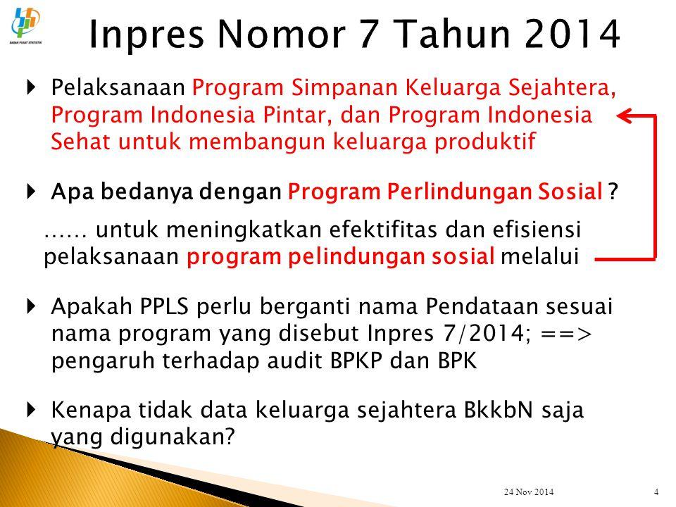  Pelaksanaan Program Simpanan Keluarga Sejahtera, Program Indonesia Pintar, dan Program Indonesia Sehat untuk membangun keluarga produktif  Apa beda