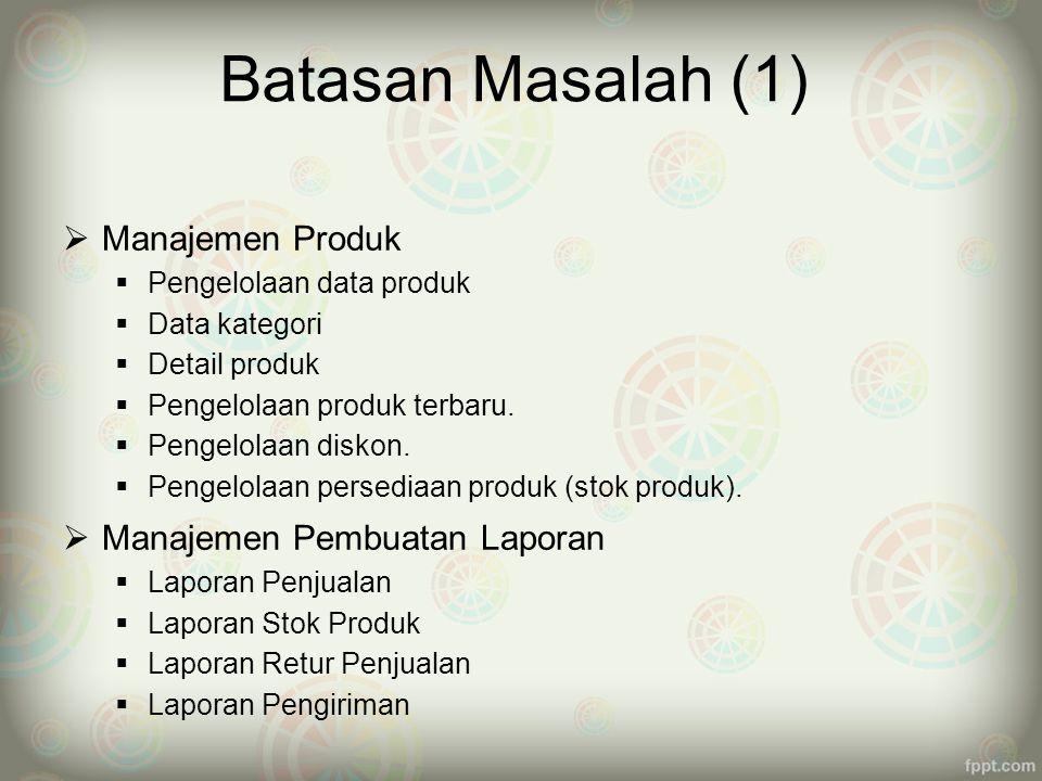 Saran  Pembayaran yang tidak hanya melalui paypal dan transfer antar bank tetapi dapat juga melalui kartu kredit  Penggunaan multi bahasa sangat dianjurkan selain bahasa indonesia, karena promosi yang dilakukan melalui jaringan internet yang bersifat internasional, minimal menggunakan bahasa bahasa inggris.
