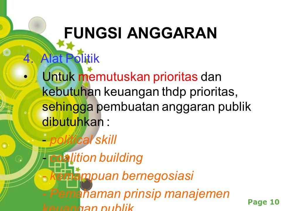 Powerpoint Templates Page 10 FUNGSI ANGGARAN 4.