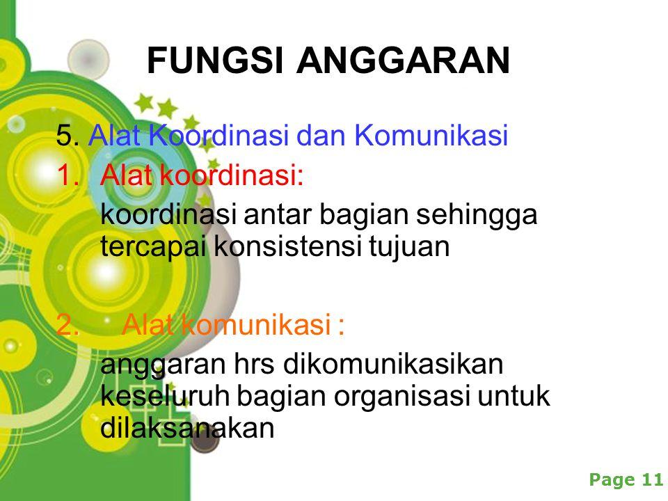 Powerpoint Templates Page 11 FUNGSI ANGGARAN 5.