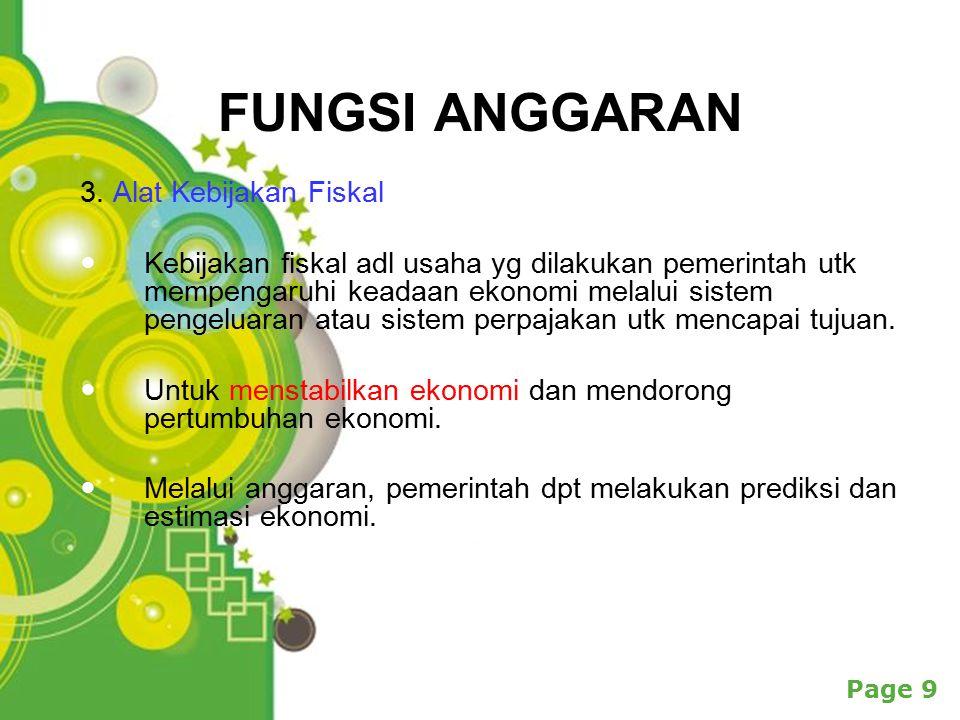 Powerpoint Templates Page 9 FUNGSI ANGGARAN 3.