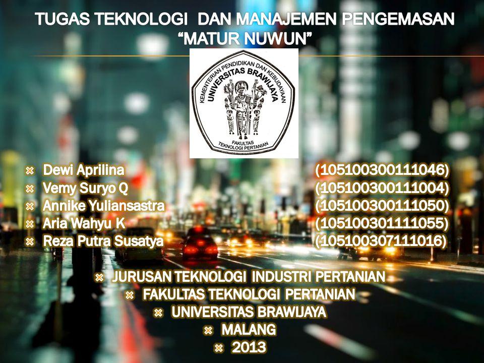 VISI 1.UKM komersial terkemuka di Jogjakarta 2.Magnet potensi generasi muda MISI Mengembangkan merek Matur Nuwun sebagai icon Jogjakarta.