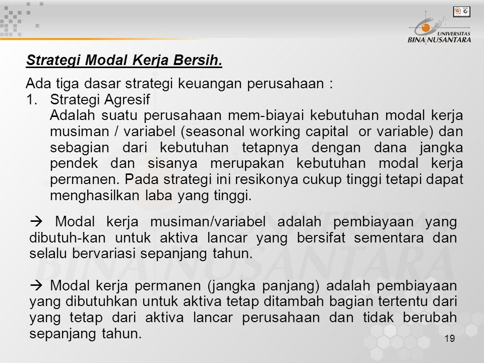 19 Strategi Modal Kerja Bersih.