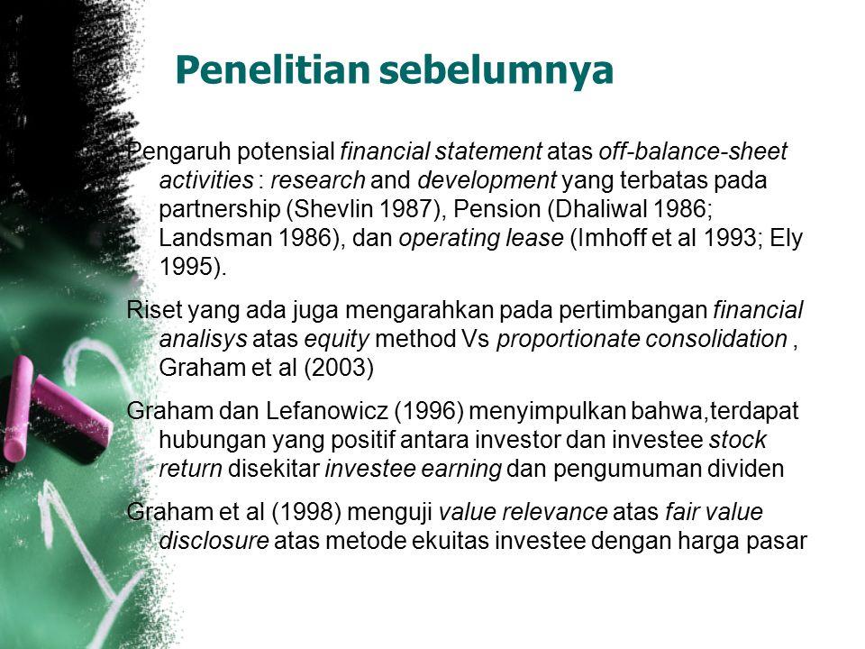 Summary 1.Peningkan disclosure pada laporan keuangan untuk kepentingan keandalan informasinya 2.market participant lebih mempertimbangkan off-balance-sheet liabilities daripada assets untuk perusahaan yang menyediakan explicit guarantees atas investee obligations.