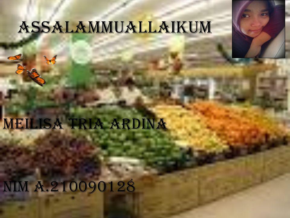 Assalammuallaikum MEILISA TRIA ARDINA NIM A.210090128