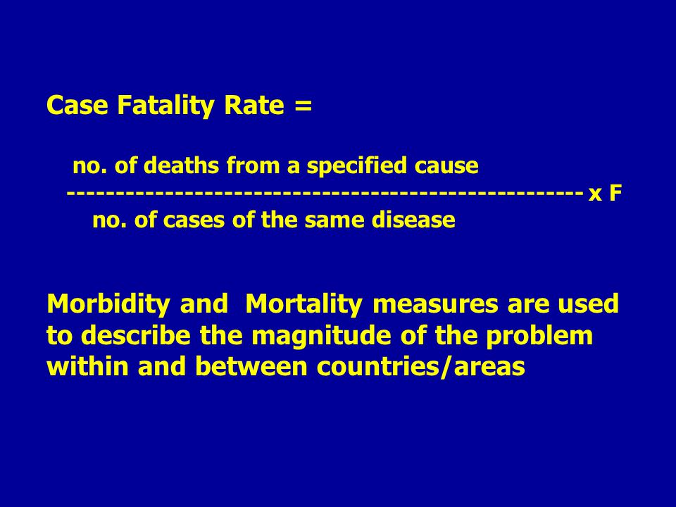 Case Fatality Rate = no.