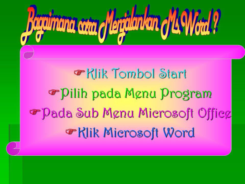 Microsoft Word Merupakan program aplikasi yg digunakan sebagai program pengolah kata yang dikeluarkan oleh perusahaan microsoft yang dapat digunakan u