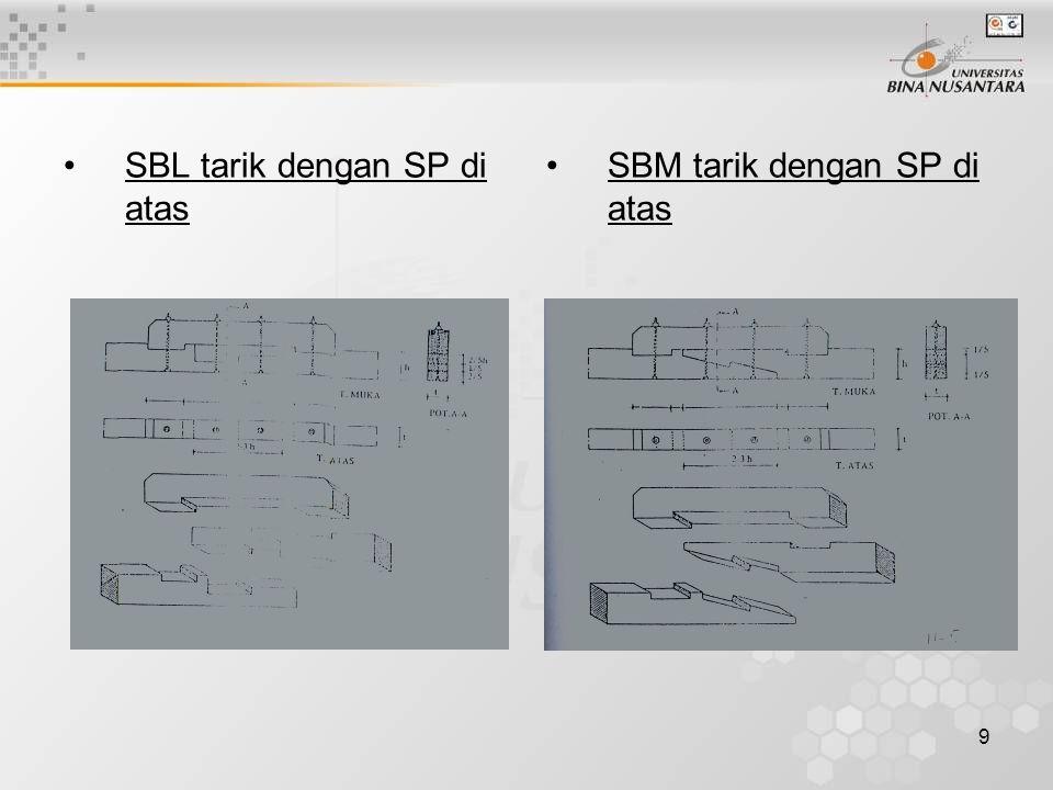 9 SBL tarik dengan SP di atas SBM tarik dengan SP di atas