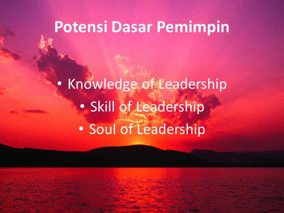 Power of Leadership Kepemimpinan sering didentikan dengan kekuatan (power), yaitu kekuatan dalam mempengaruhi (influence) orang lain untuk mencapai tujuan (goal).