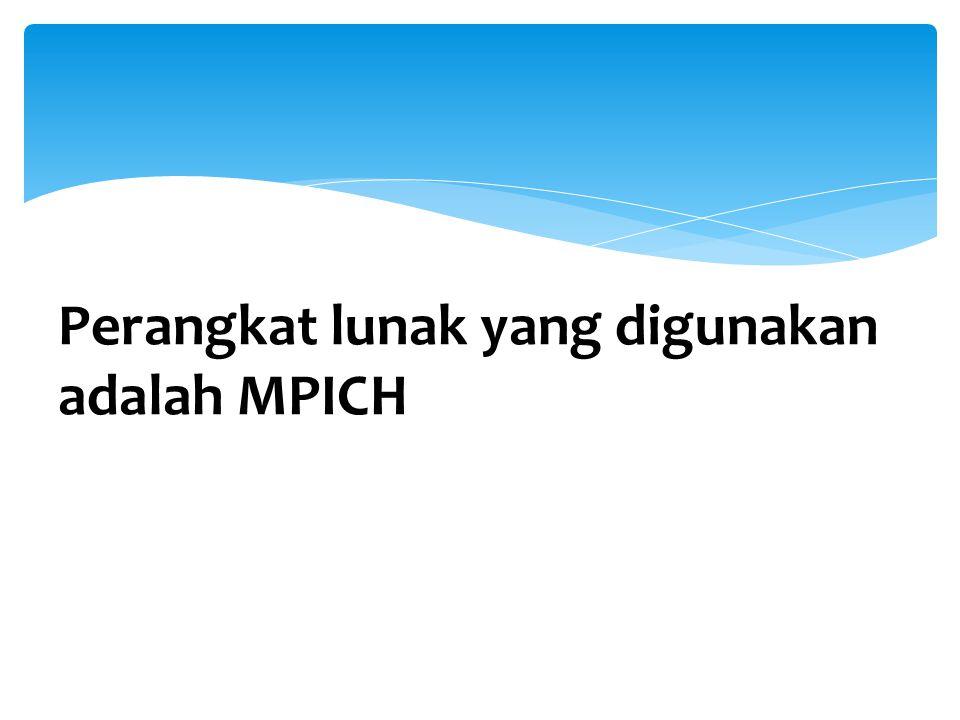 Perangkat lunak yang digunakan adalah MPICH