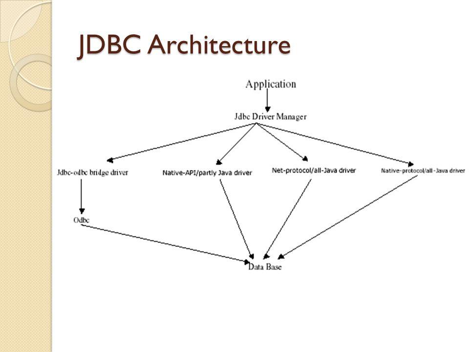 Tipe 1 : JDBC-ODBC Bridge plus ODBC Driver Tipe Driver ini menyediakan akses JDBC melalui ODBC Driver.