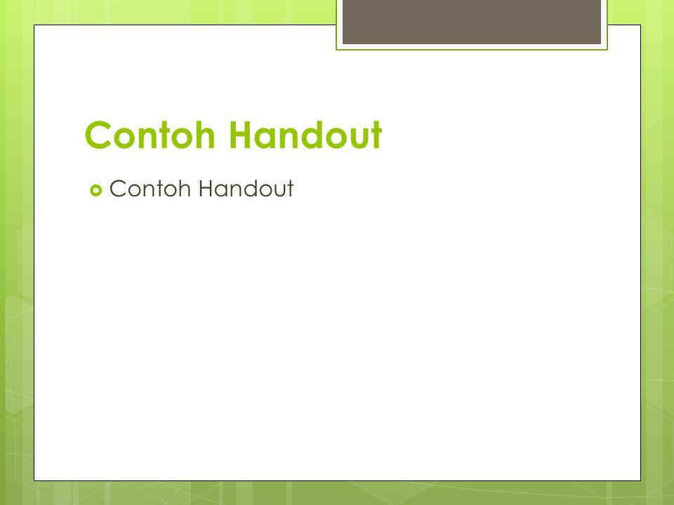 Contoh Handout  Contoh Handout