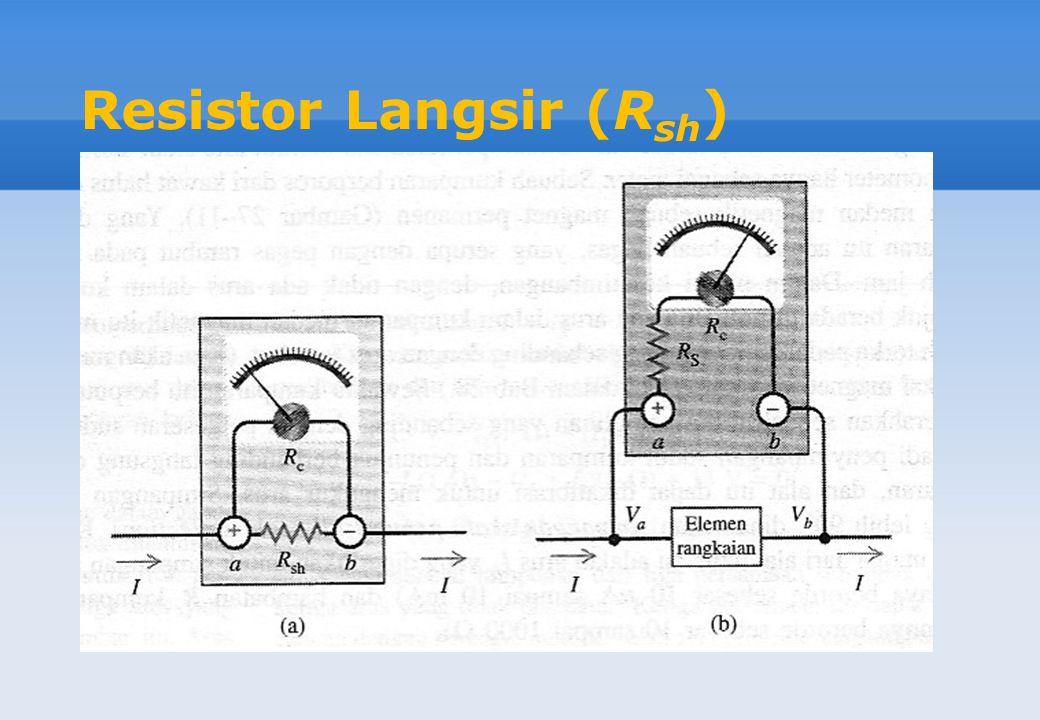 Resistor Langsir (R sh )