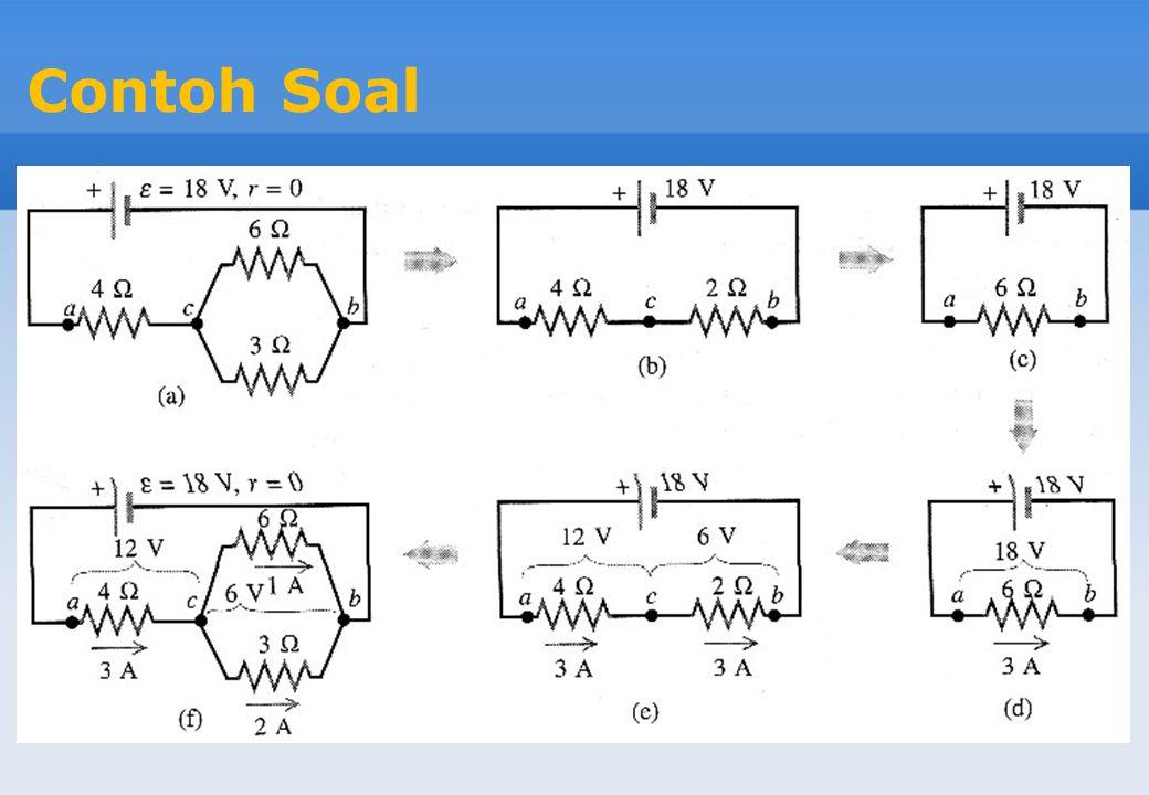 Kaidah Kirchhoff 1.Kaidah titik percabangan Kirchhoff:  I = 0 Jumlah aljabar dari arus dalam setiap percabangan adalah nol.