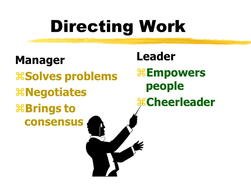 Organizing Manager zCreates structure zJob descriptions zStaffing zHierarchy zDelegates zTraining Leader z Gets people on board for strategy z Communi