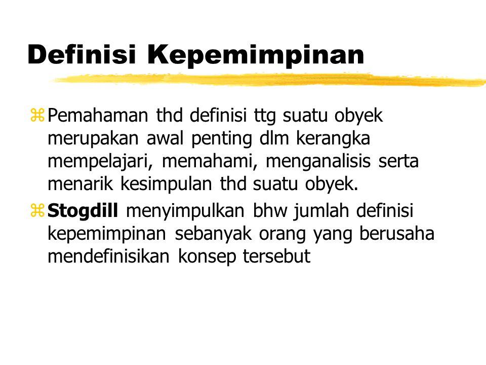 DEFINISI & LINGKUP KEPEMIMPINAN