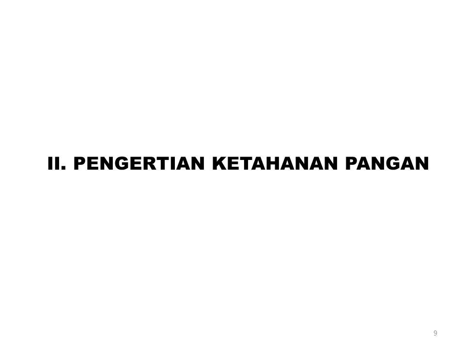 II. PENGERTIAN KETAHANAN PANGAN 9